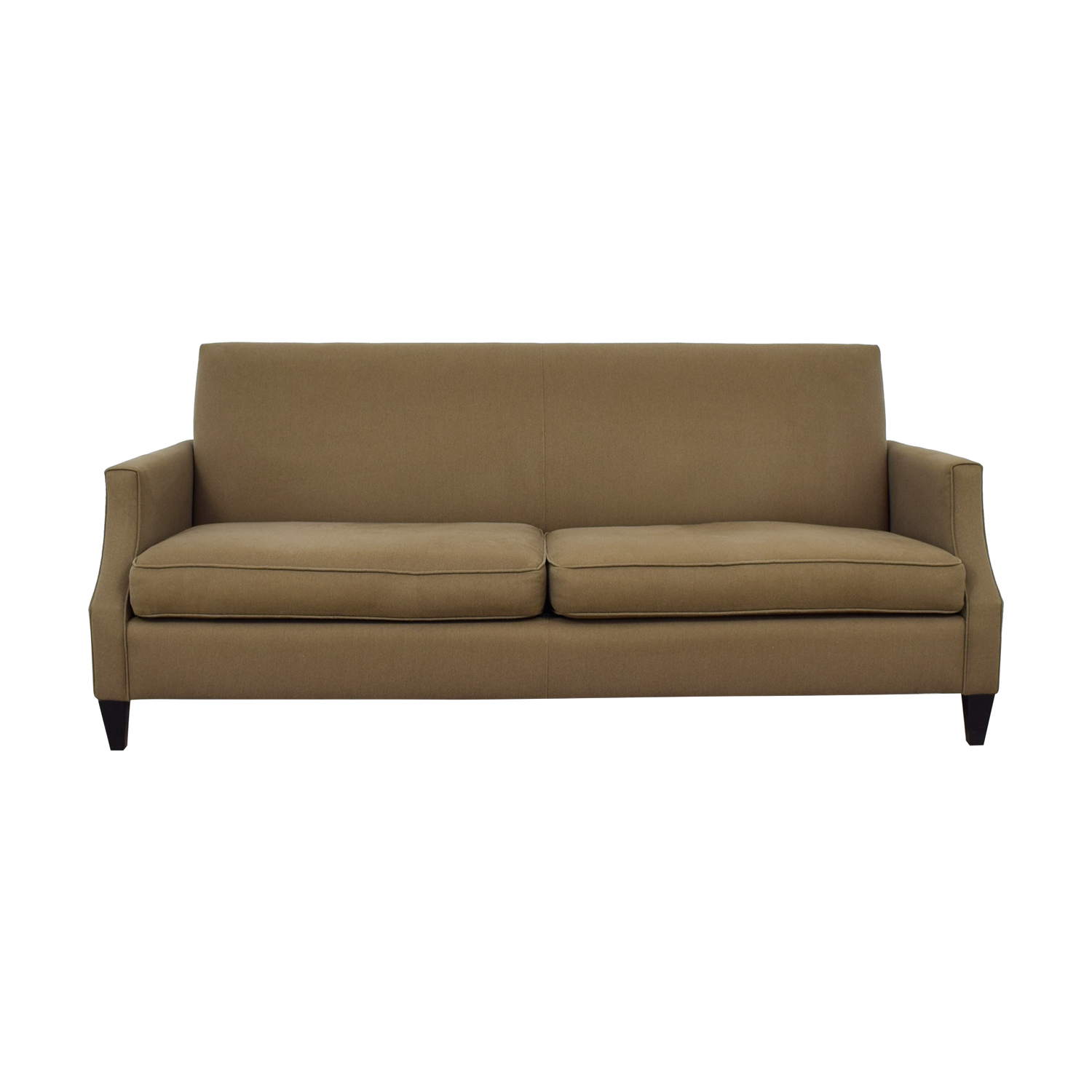 shop Crate & Barrel Grey Two-Cushion Sofa Crate and Barrel Sofas