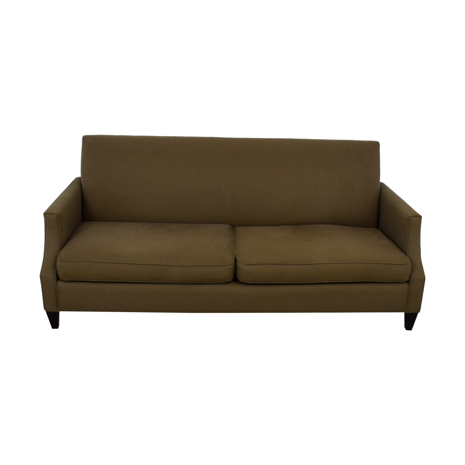 Crate and Barrel Crate & Barrel Grey Two-Cushion Sofa nj