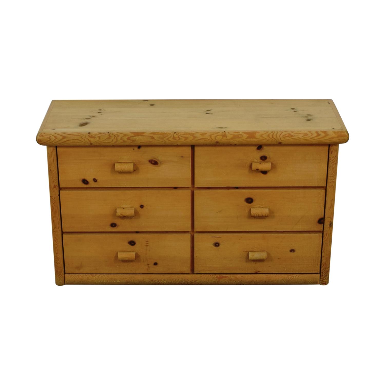 Rustic Wood Six-Drawer Dresser nyc