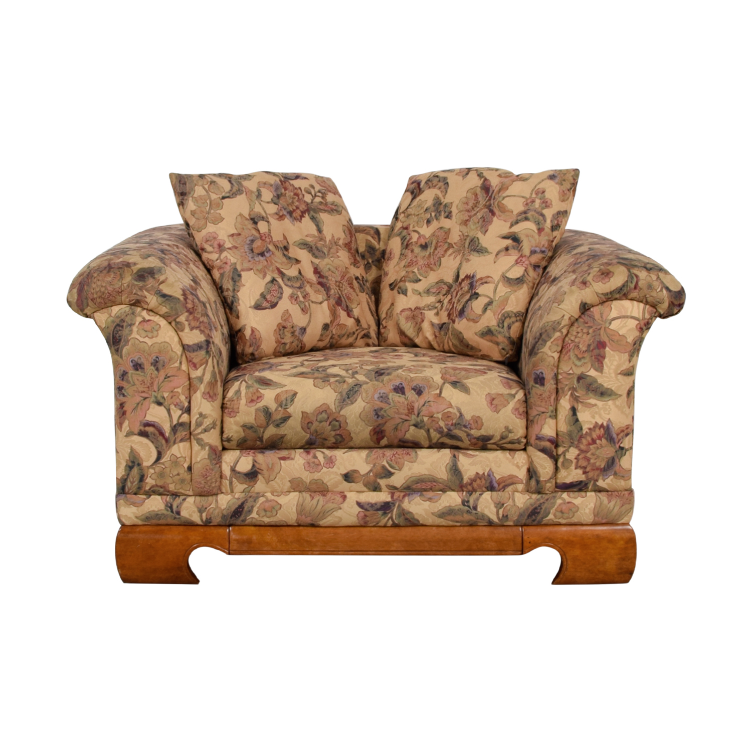 Sealy Furniture Floral Print Accent Chair Sealy Furniture