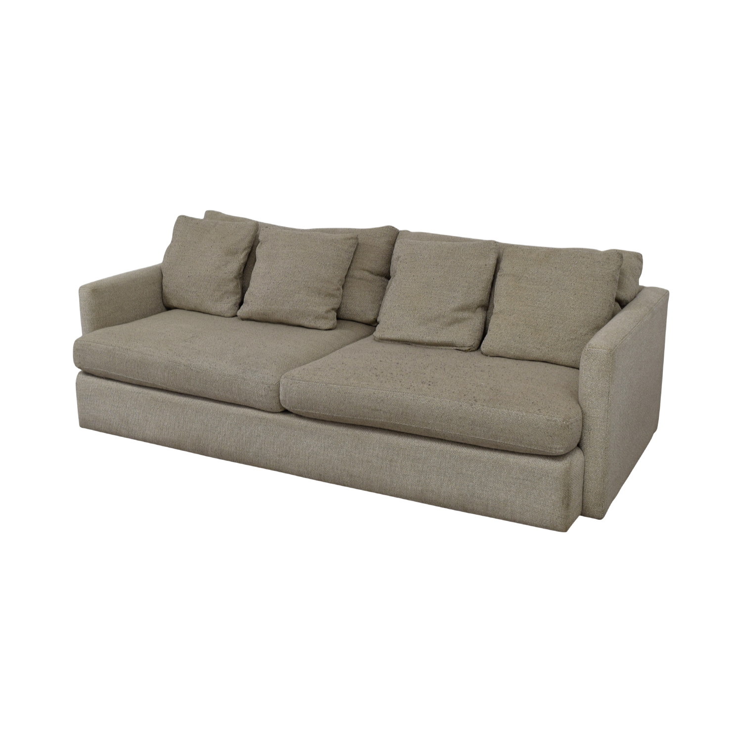 Crate & Barrel Crate & Barrel Cream Two-Cushion Sofa for sale