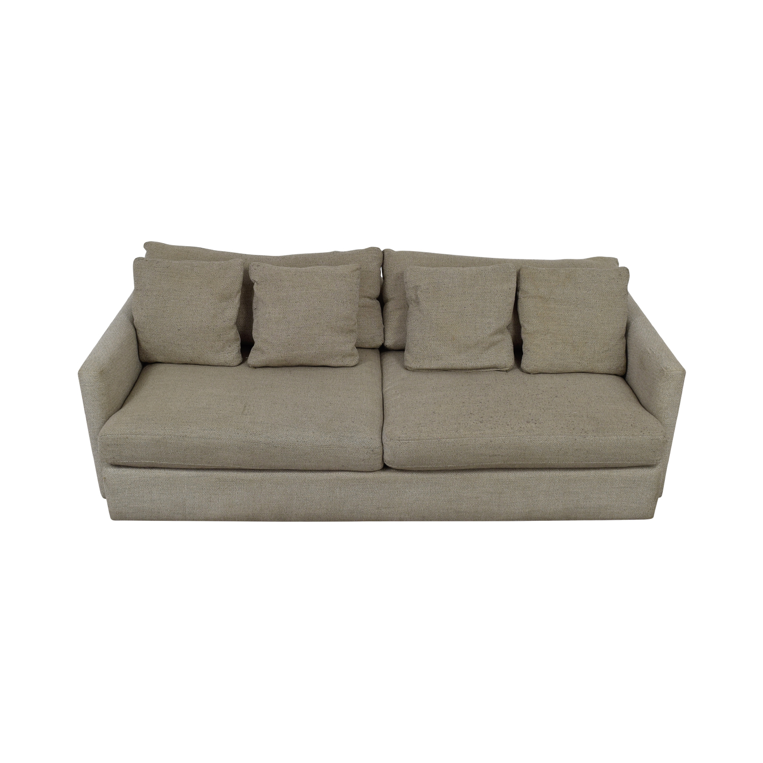 shop Crate & Barrel Cream Two-Cushion Sofa Crate & Barrel Sofas