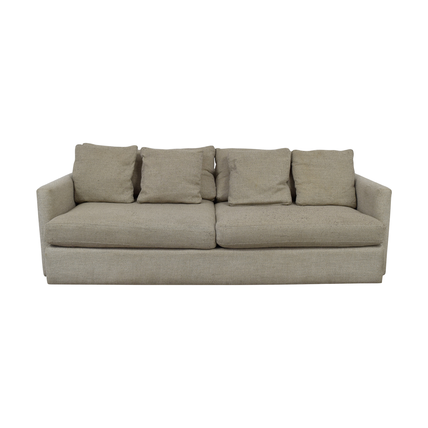 Crate & Barrel Crate & Barrel Cream Two-Cushion Sofa nj
