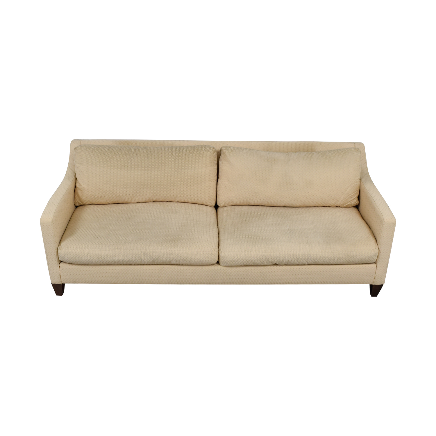 Ethan Allen Beige Two-Cushion Couch / Classic Sofas
