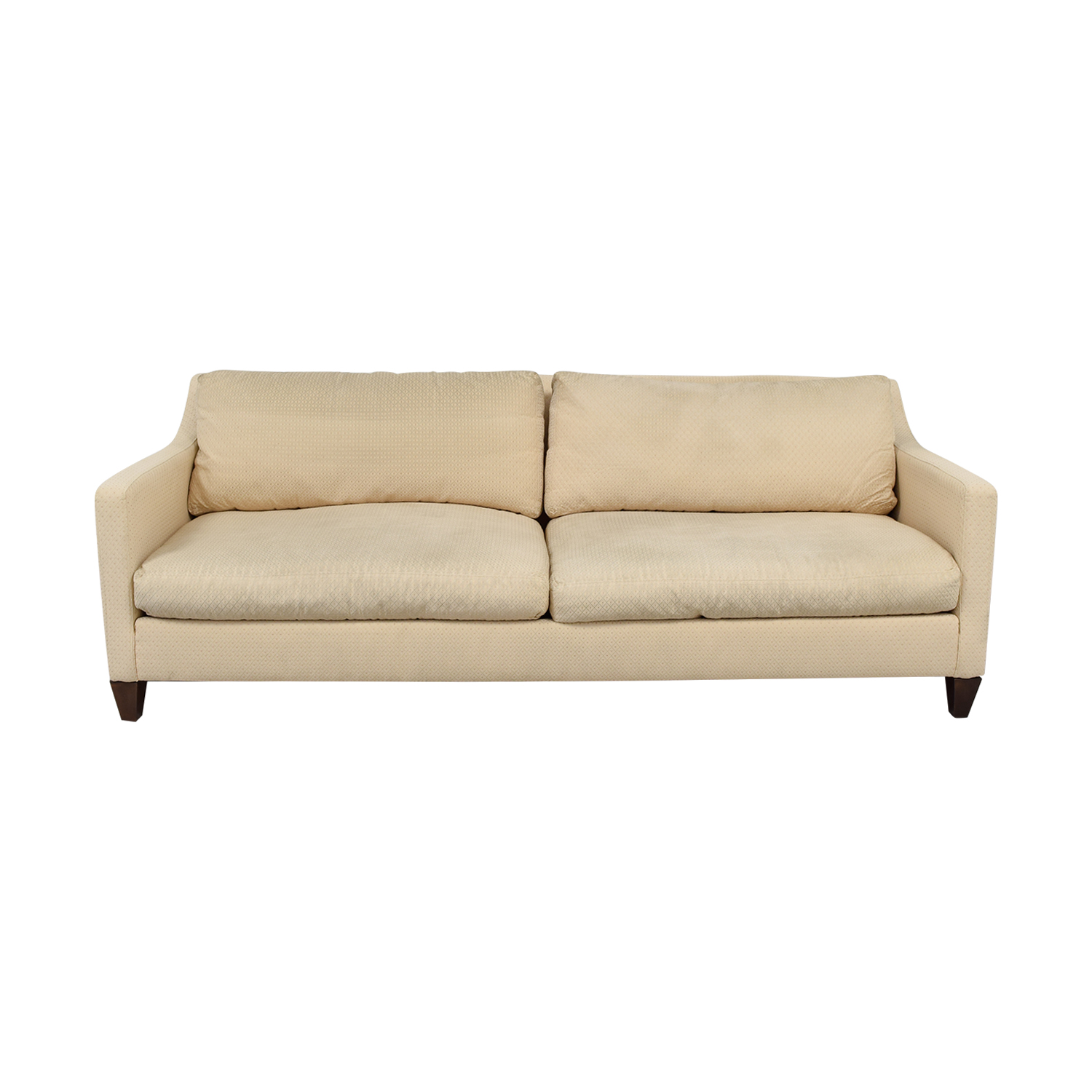 Ethan Allen Ethan Allen Beige Two-Cushion Couch second hand