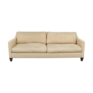 Ethan Allen Ethan Allen Beige Two-Cushion Couch on sale