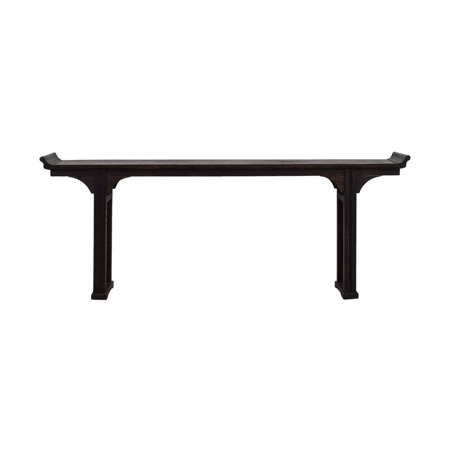 Ballard Designs Ballard Designs Dark Brown Wood Console Table nj