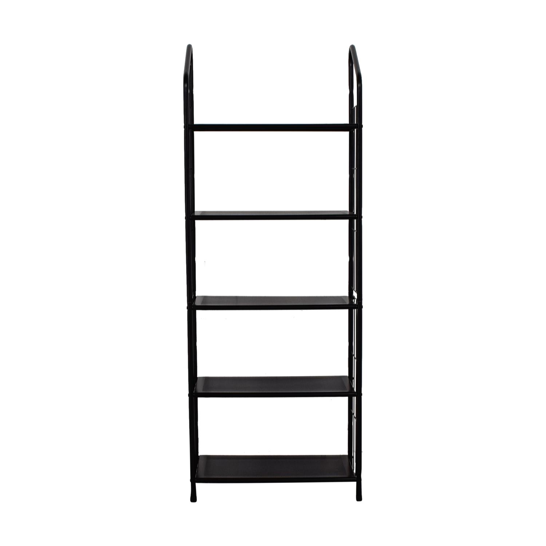 59 Off Coaster Fine Furniture Coaster Black Metal Bookcase Storage
