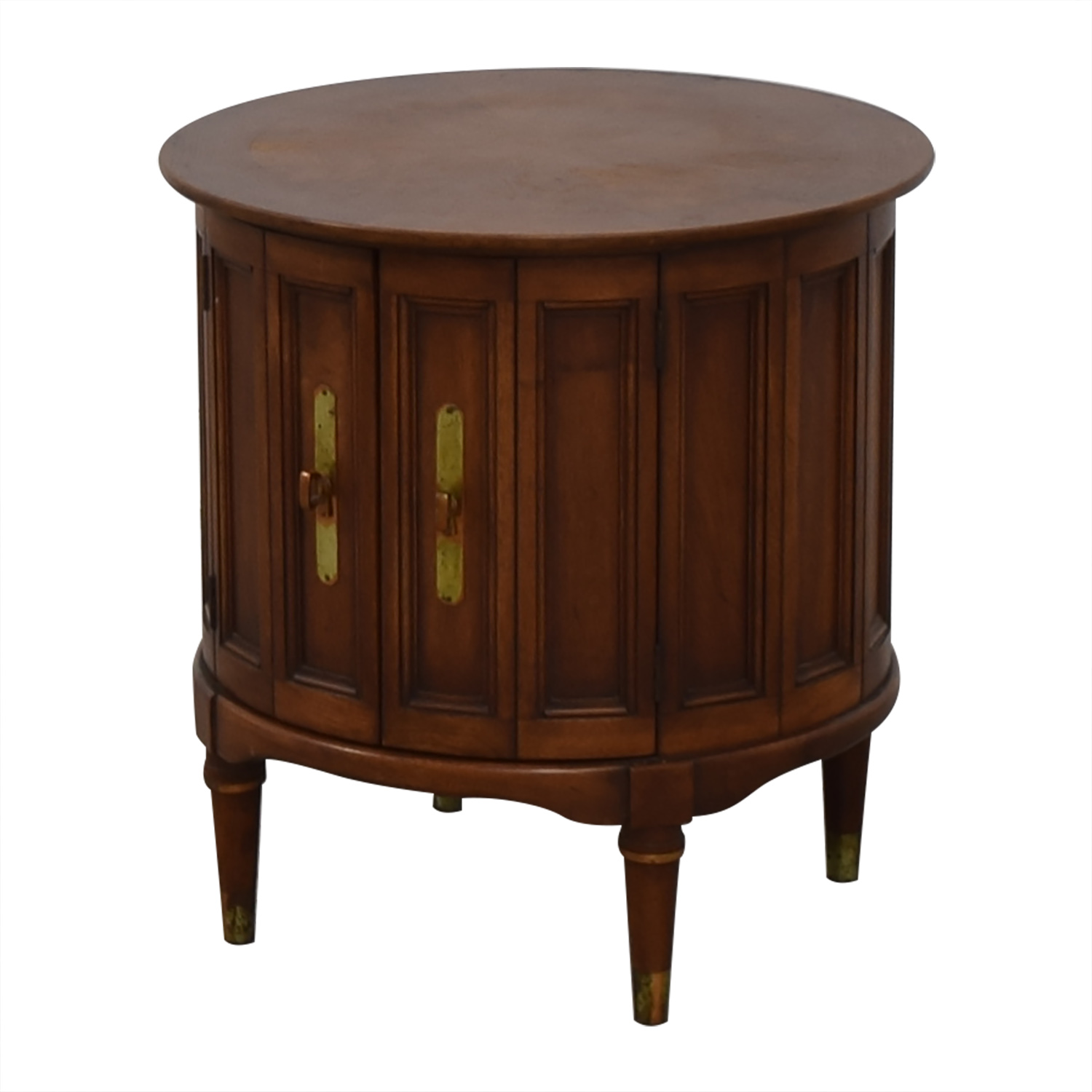 antique round wood end table for sale - Antique End Tables For Sale