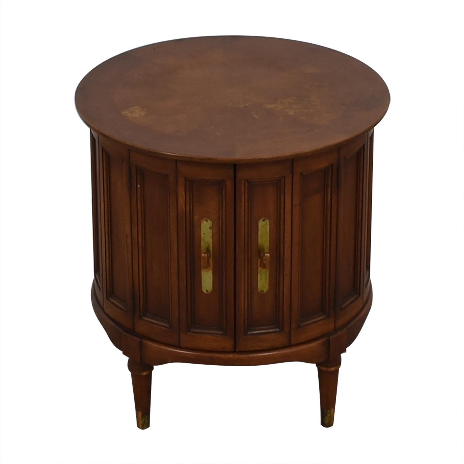 buy Antique Round Wood End Table