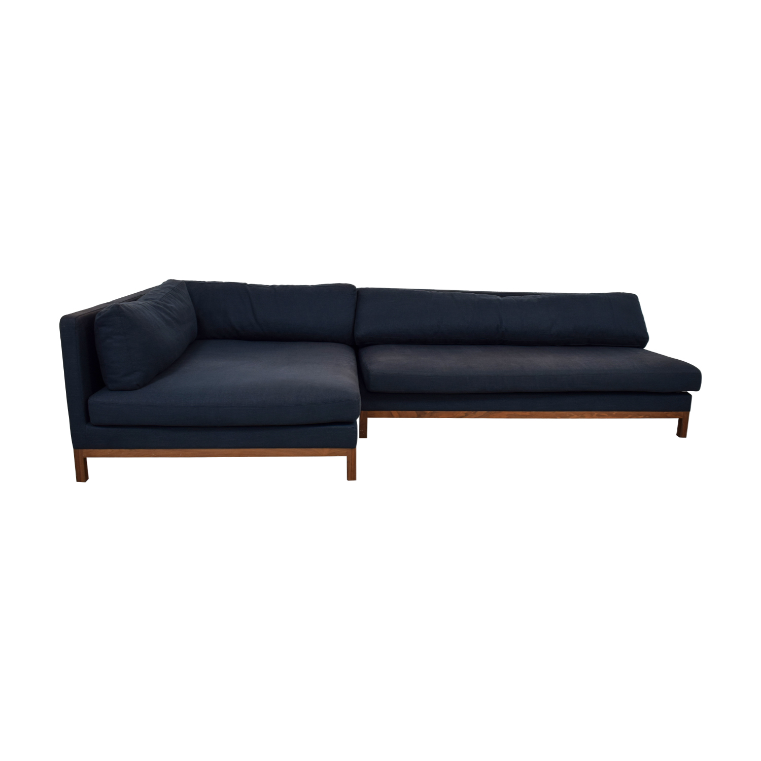 shop Navy Blue Jasper Left Chaise Sectional