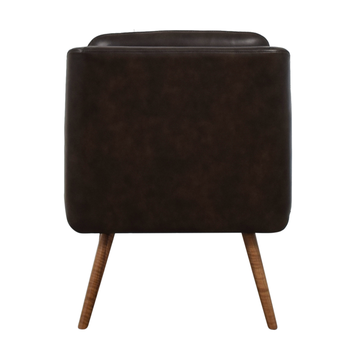 buy  Hana Brown Leather Slipper Chair online