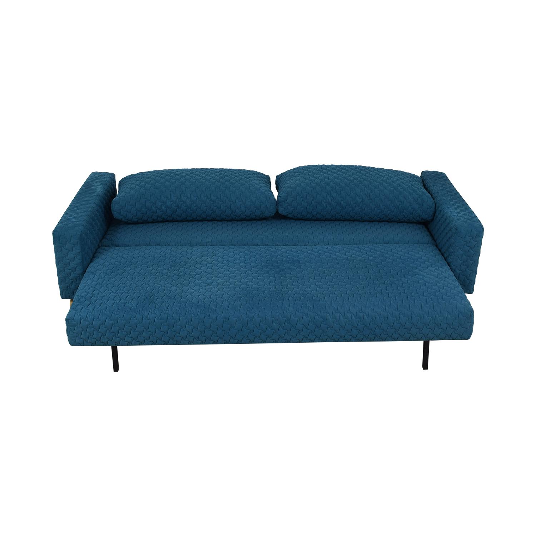 Innovation Living Inc Blue Single Cushion Sleep Sofa Online