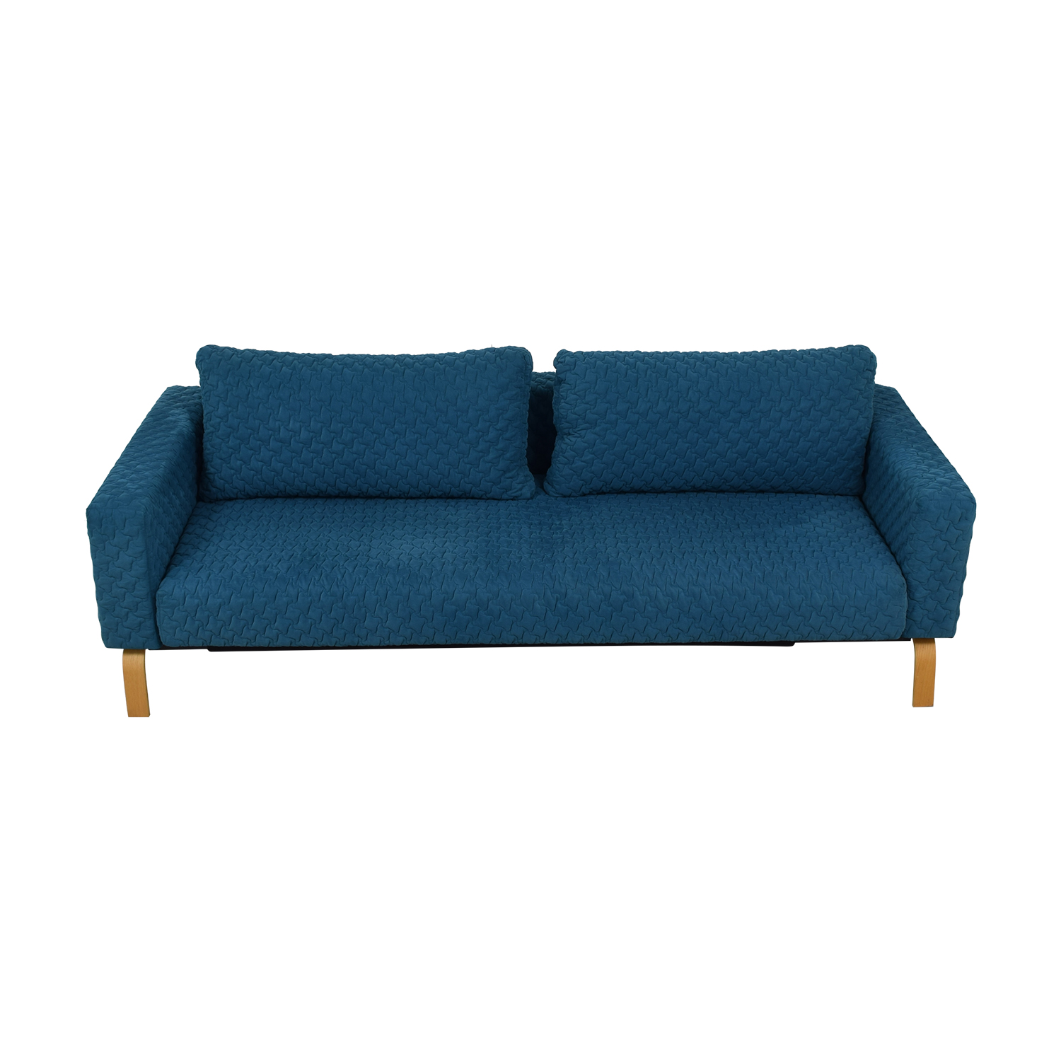 Innovation Living Inc Innovation Living Inc Blue Single Cushion Sleep Sofa second hand