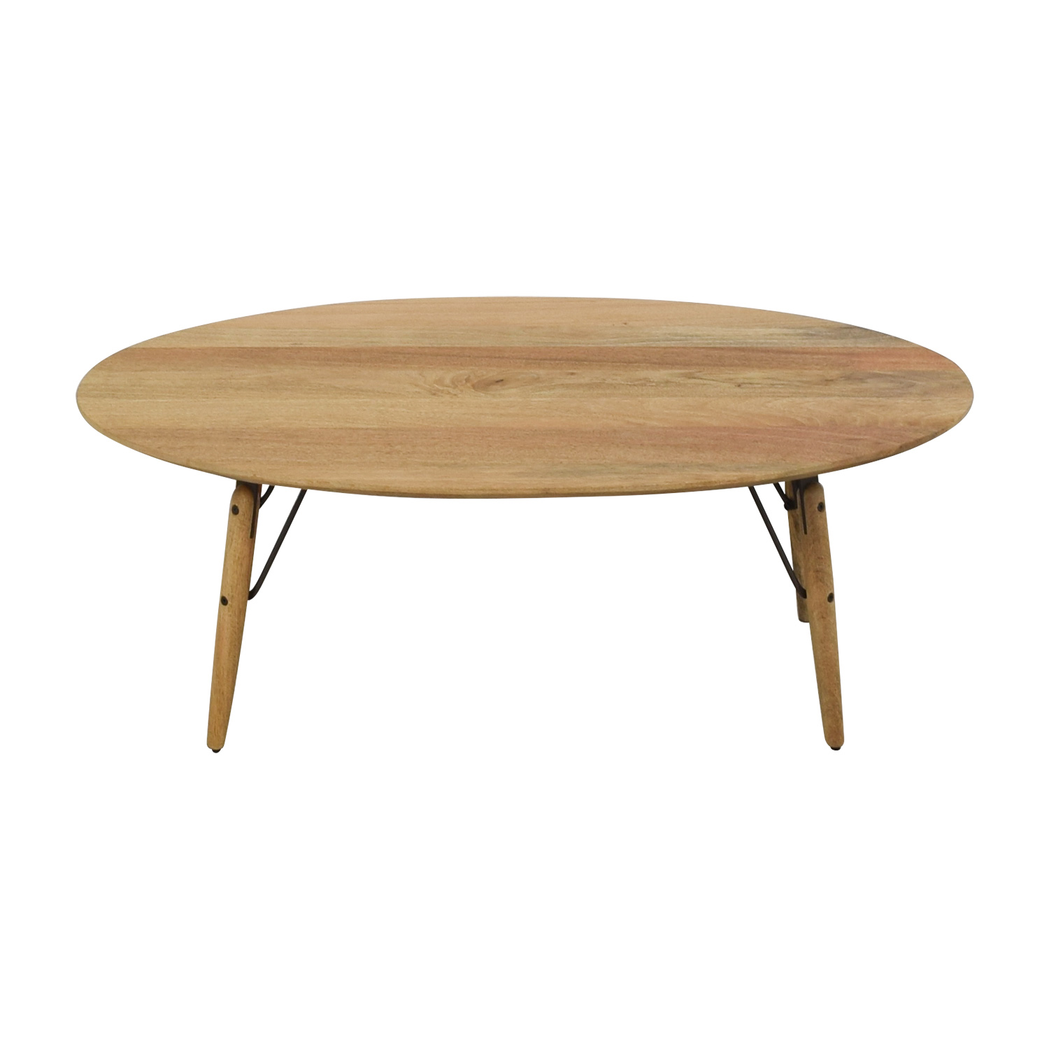 West Elm West Elm Graphica Oval Coffee Table Raw Mango nj