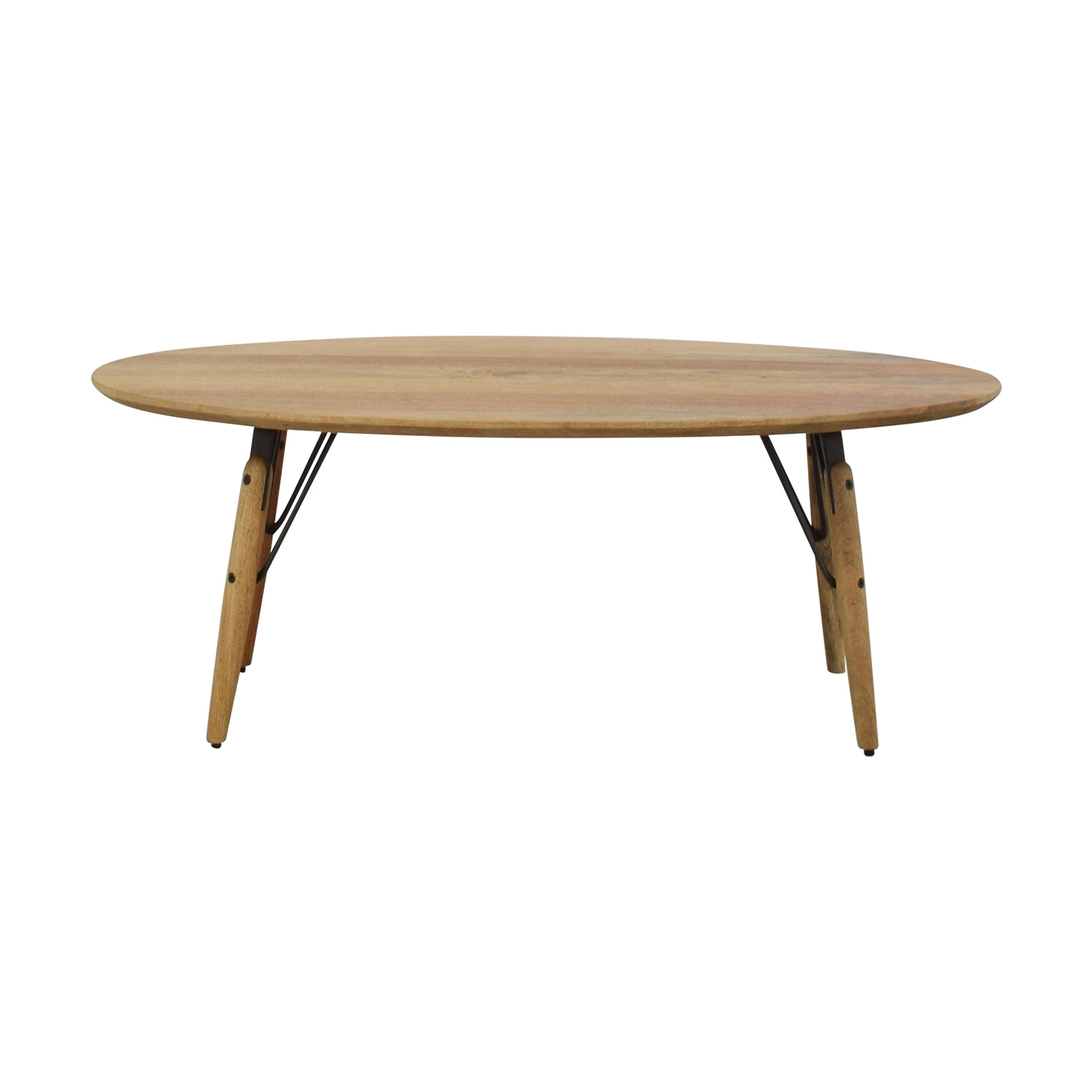 West Elm West Elm Graphica Oval Coffee Table Raw Mango nyc