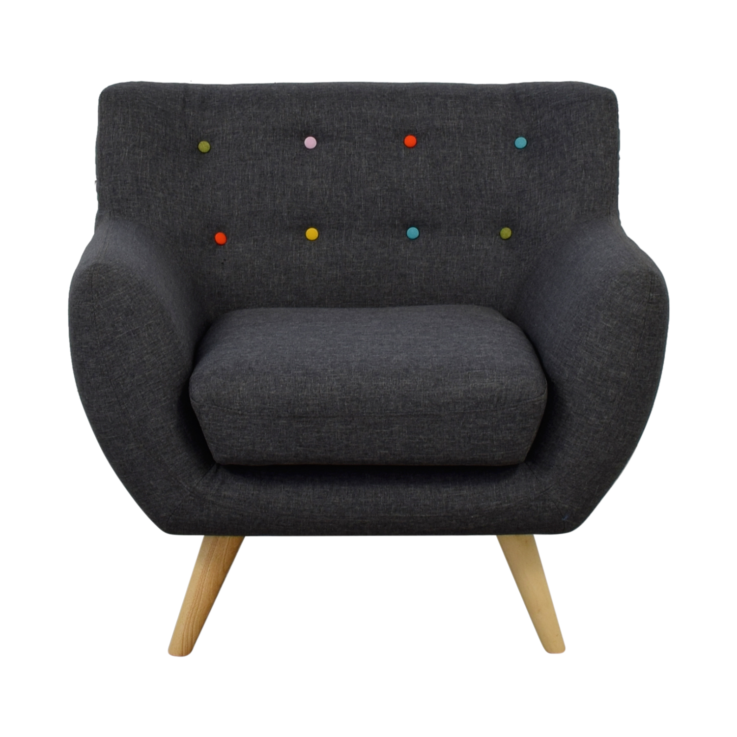 shop Modway Mid Century Accent Chair with Multi-Colored Tuft Buttons Modway Accent Chairs