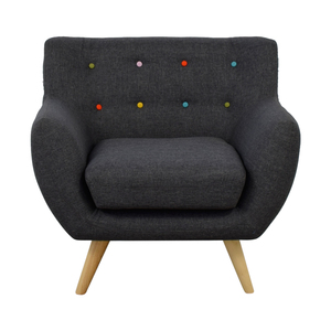 Modway Modway Mid Century Accent Chair with Multi-Colored Tuft Buttons coupon