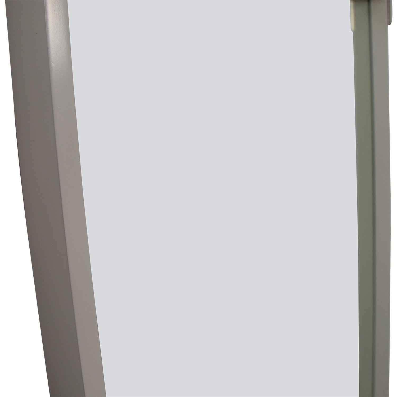 45 off west elm west elm white framed floor mirror decor. Black Bedroom Furniture Sets. Home Design Ideas
