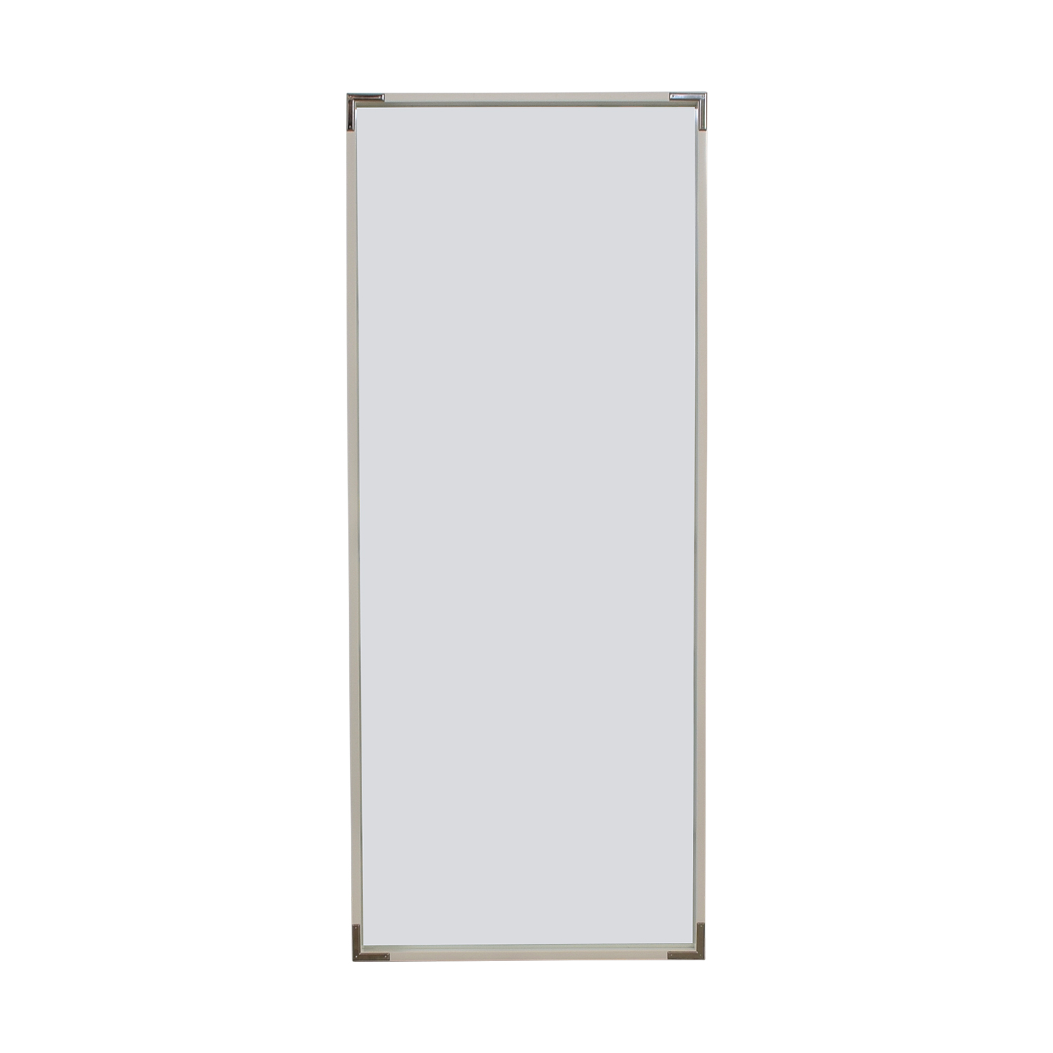 West Elm West Elm White Framed Floor Mirror used