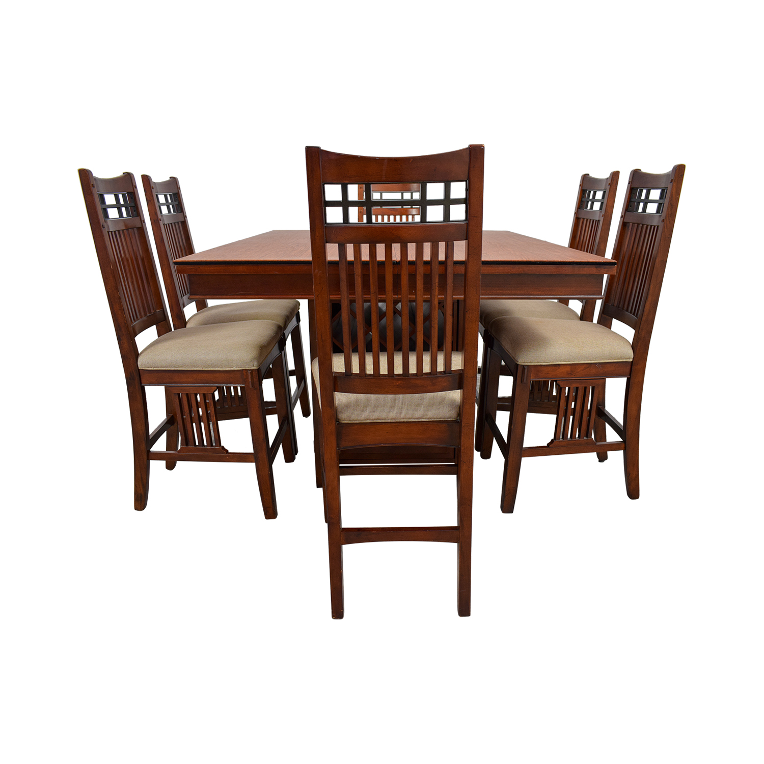 Counter Height Wine Rack Dining Set used