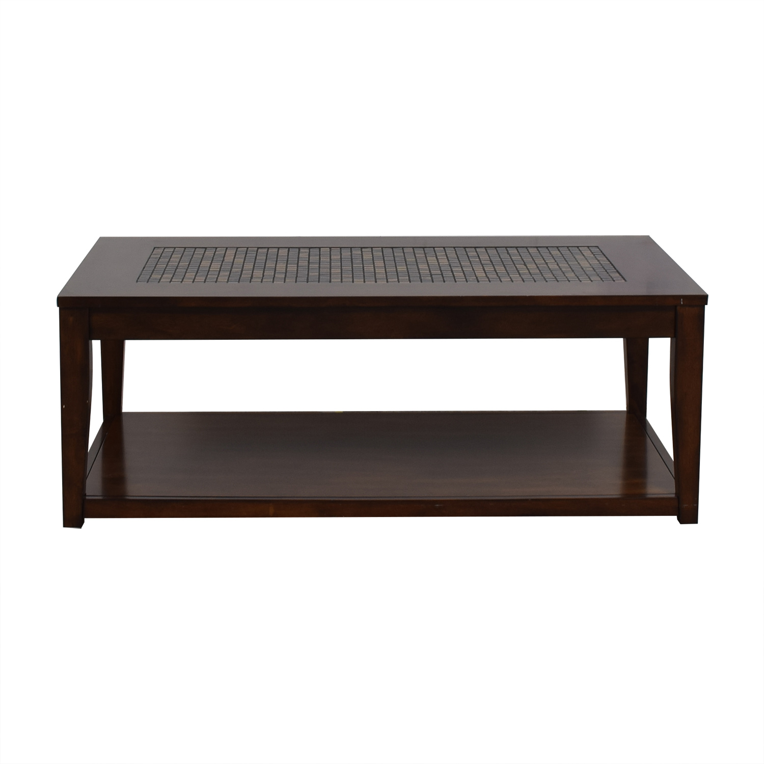 Wood and Tiled Coffee Table sale