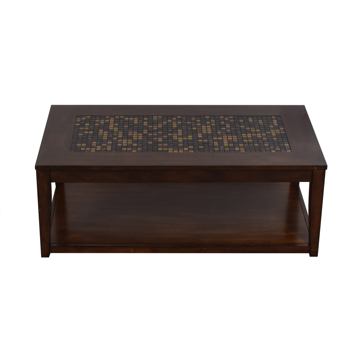 Wood and Tiled Coffee Table dimensions