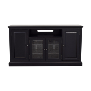 Ethan Allen Black Media Console sale