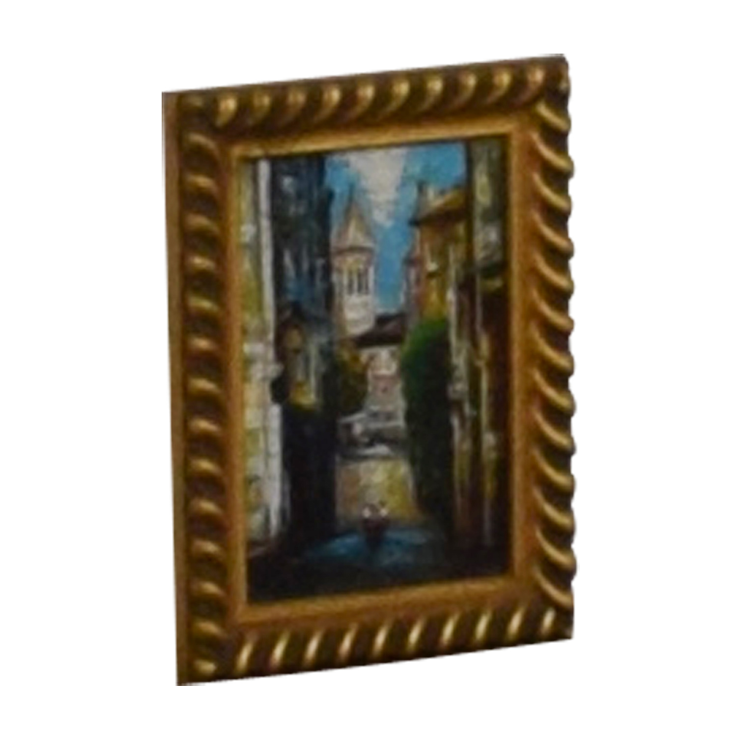 buy City Painting in Gold Frame  Wall Art