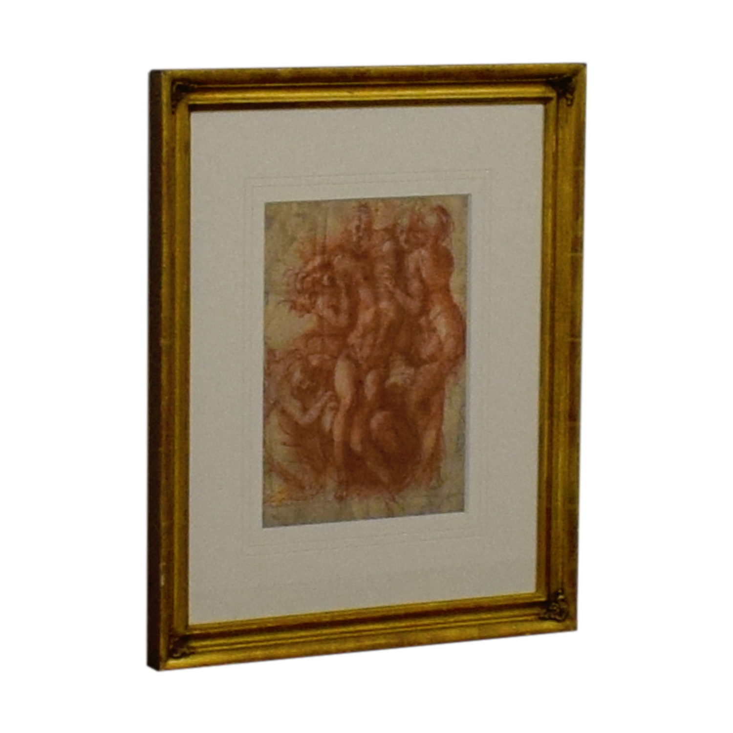 Nude Sketch in Gold Frame Artwork / Wall Art
