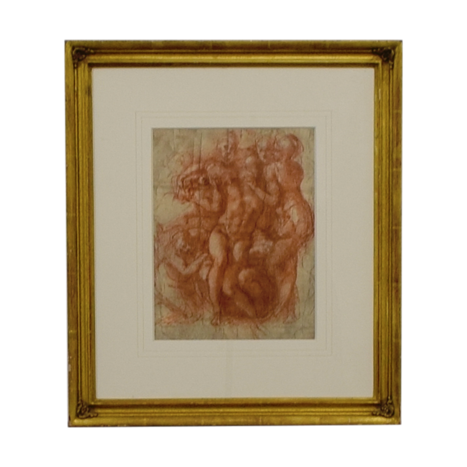 buy Nude Sketch in Gold Frame Artwork  Decor