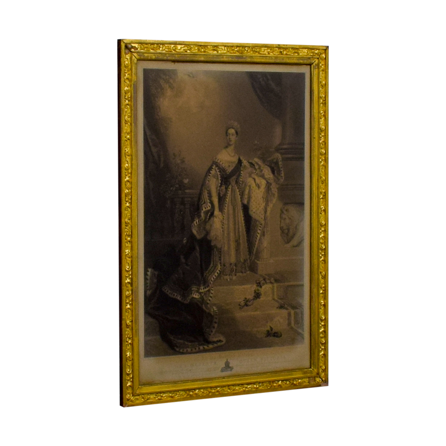 Queen Victoria of England Gold Framed Photograph / Decor