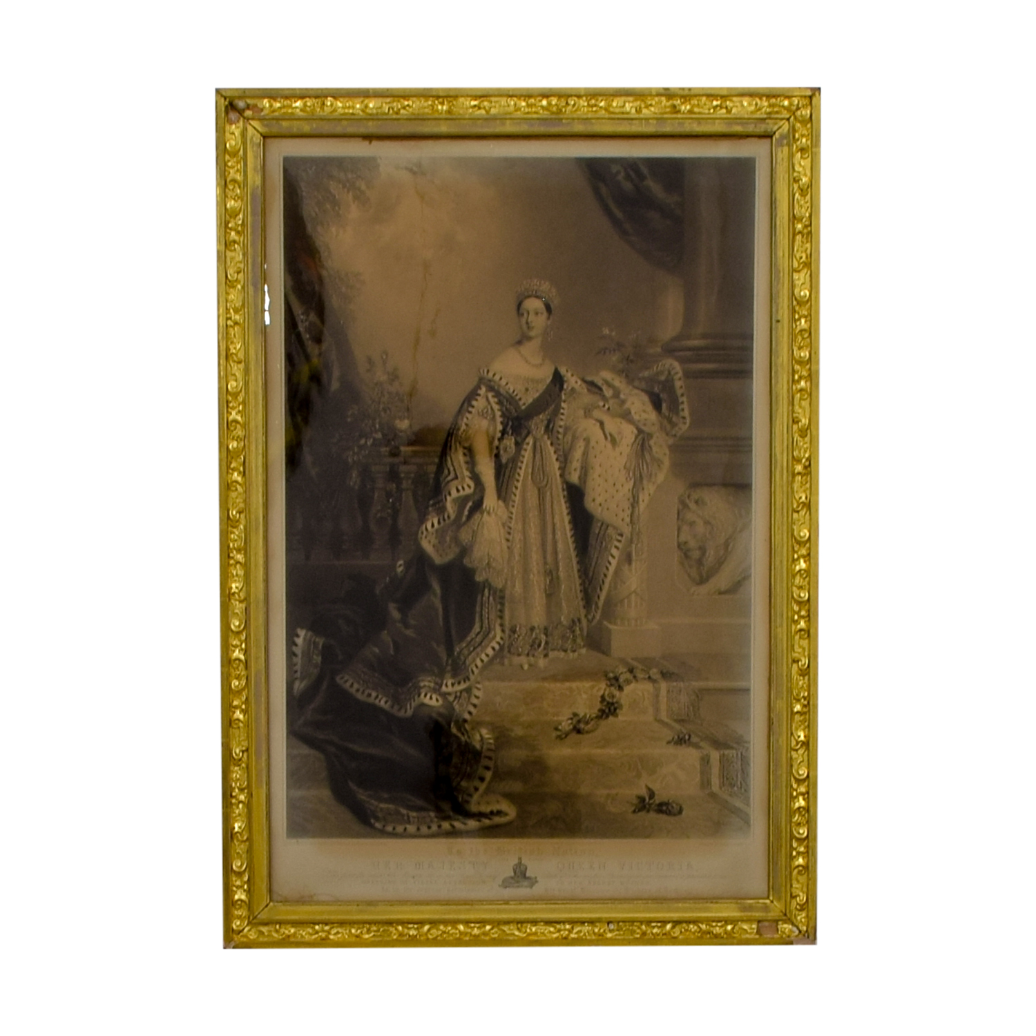 Queen Victoria of England Gold Framed Photograph