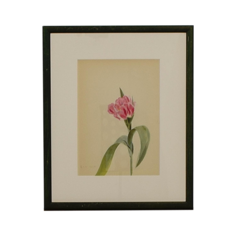 Pink Flower Framed Artwork coupon
