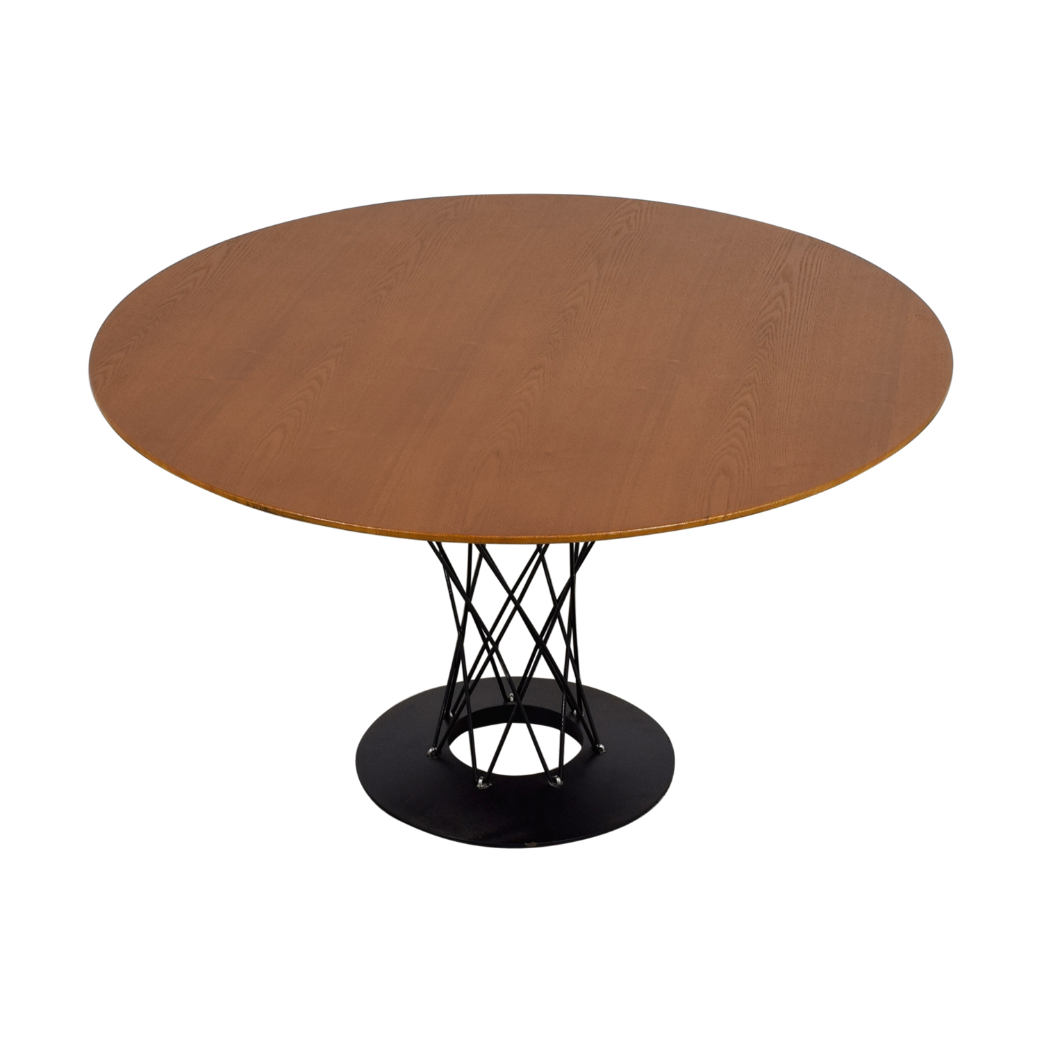 shop Round Wood and Metal Dining Table