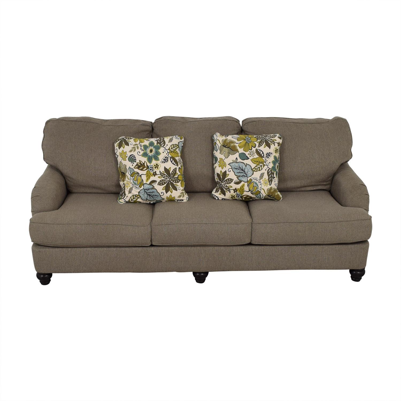 Ashley Furniture Grey Three-Cushion Sofa sale