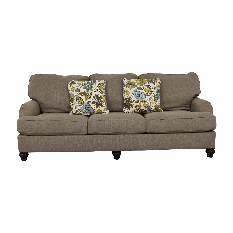 Ashley Furniture Ashley Furniture Grey Three-Cushion Sofa second hand