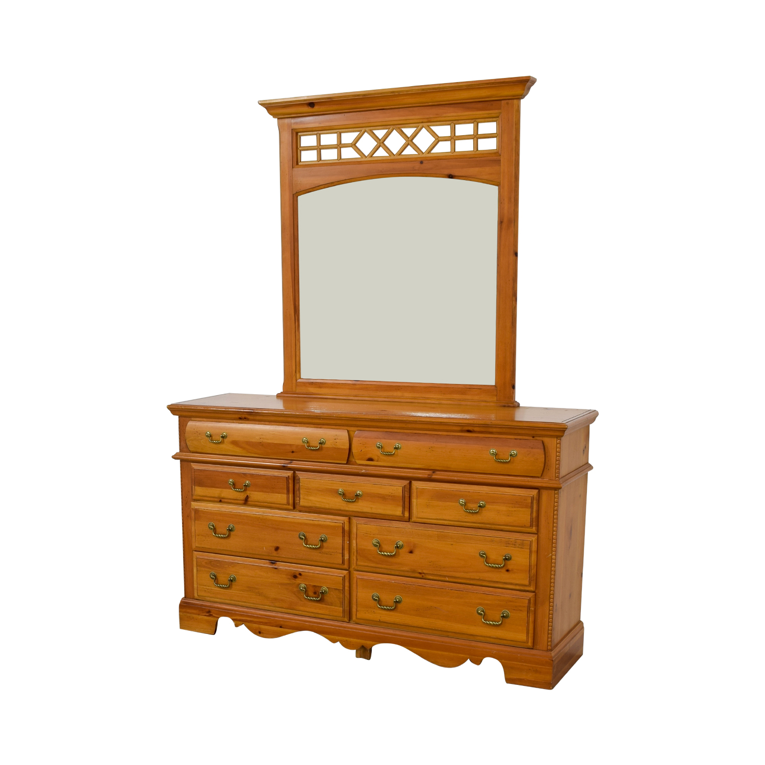 shop Vaughn Bassett Dresser with Mirror Vaughn Bassett