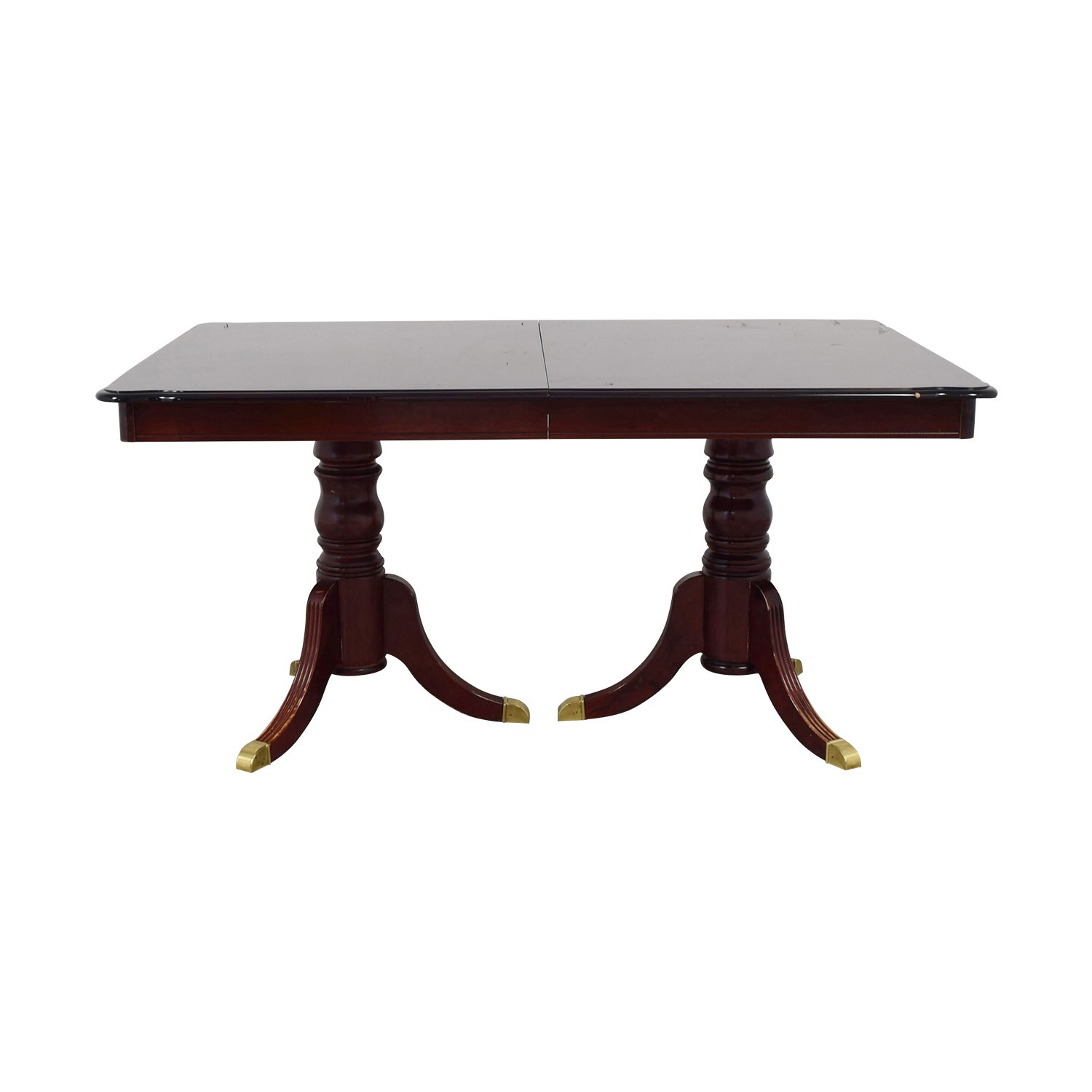 Extendable Wood Dining Table with Leaf discount