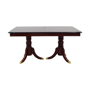 Extendable Wood Dining Table with Leaf sale