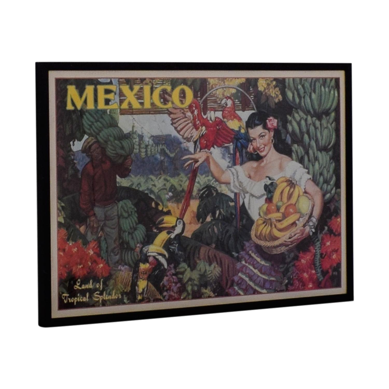 shop Vintage Apple Collection Mexico Travel Advertisement Wall Art Vintage Apple Collection Wall Art