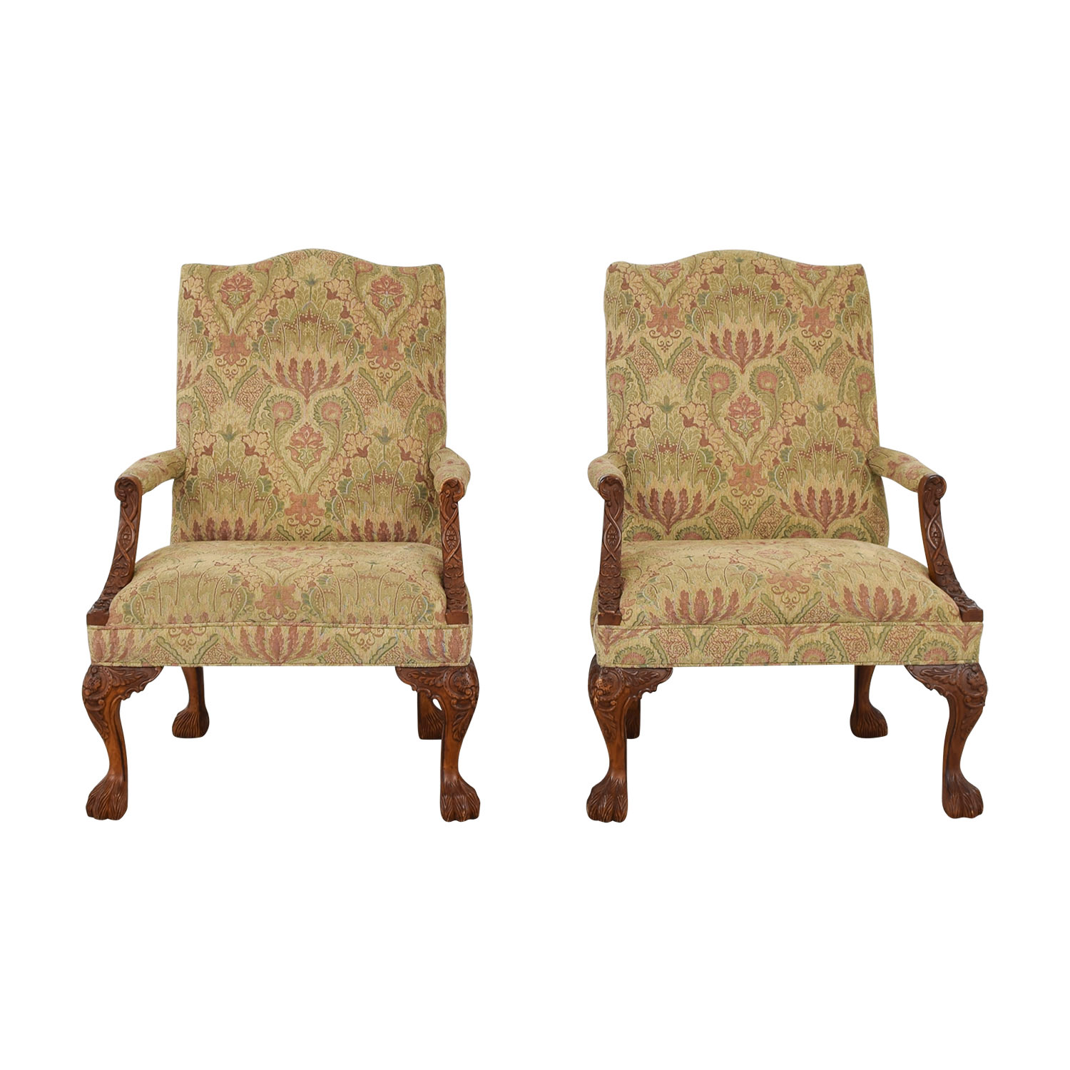buy Sam Moore Tibetan Tapestry Old World Finish Carved Wood Chairs Sam Moore Accent Chairs