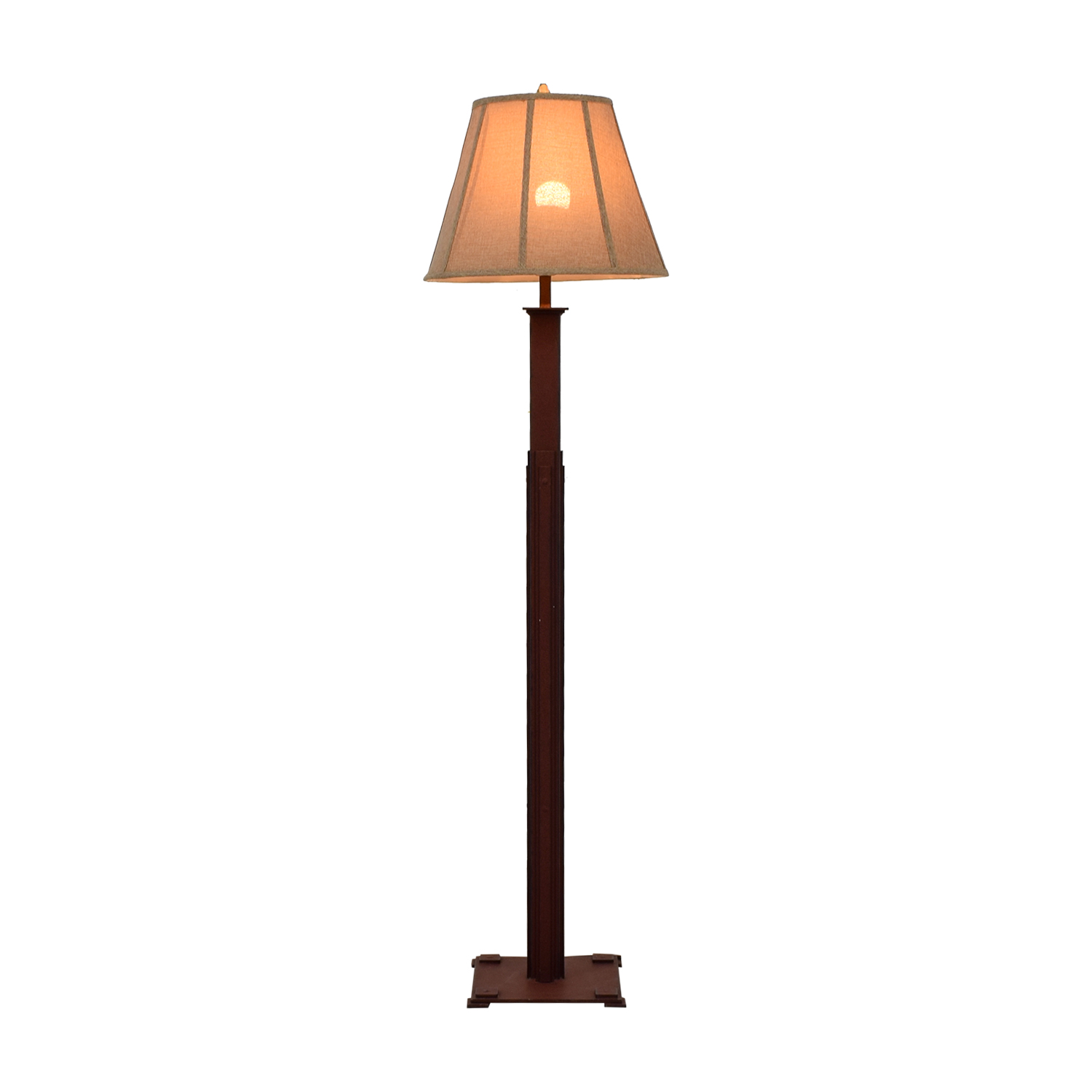 Distressed Burlap Shade Floor Lamp sale