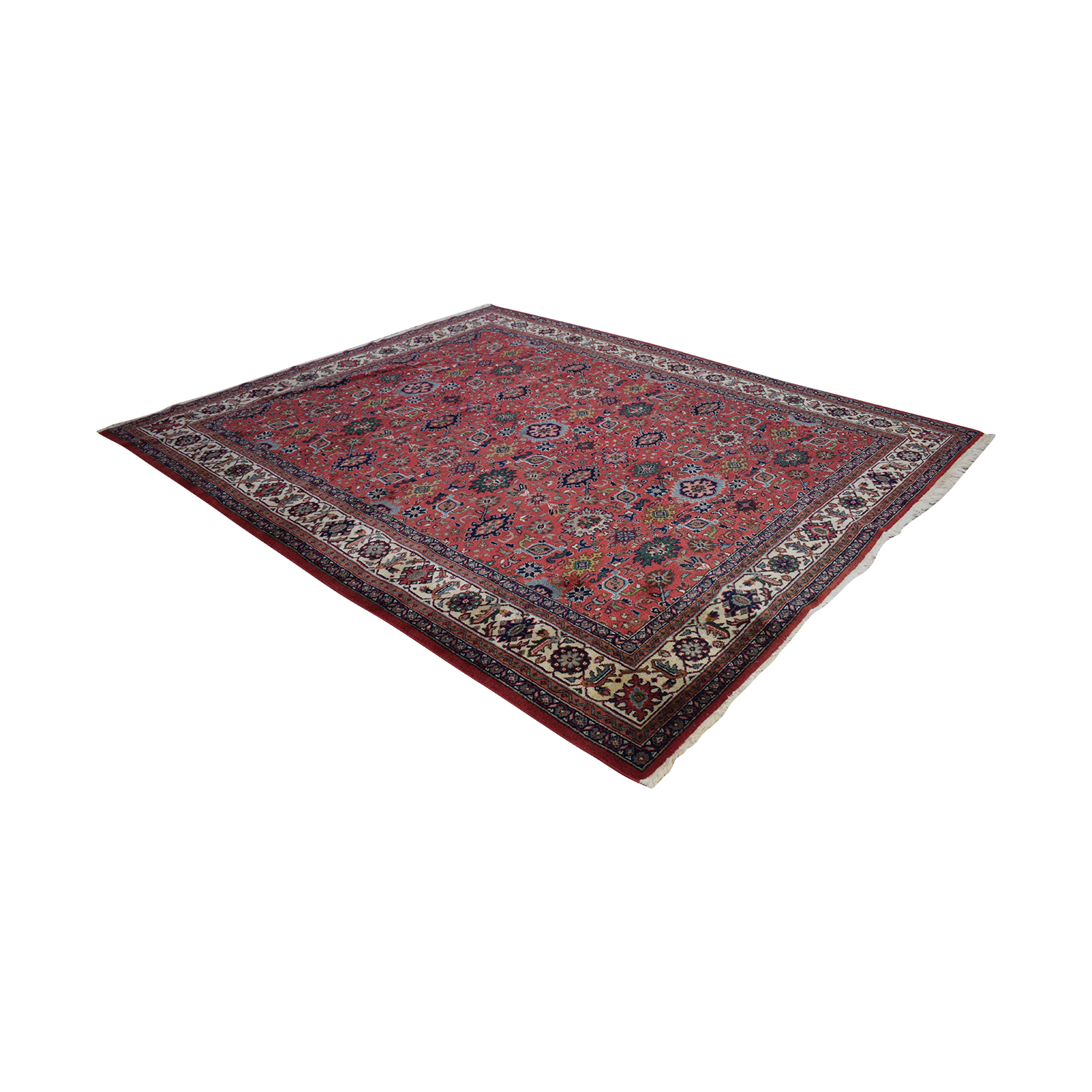 Oriental Multi-Colored Red Rug used
