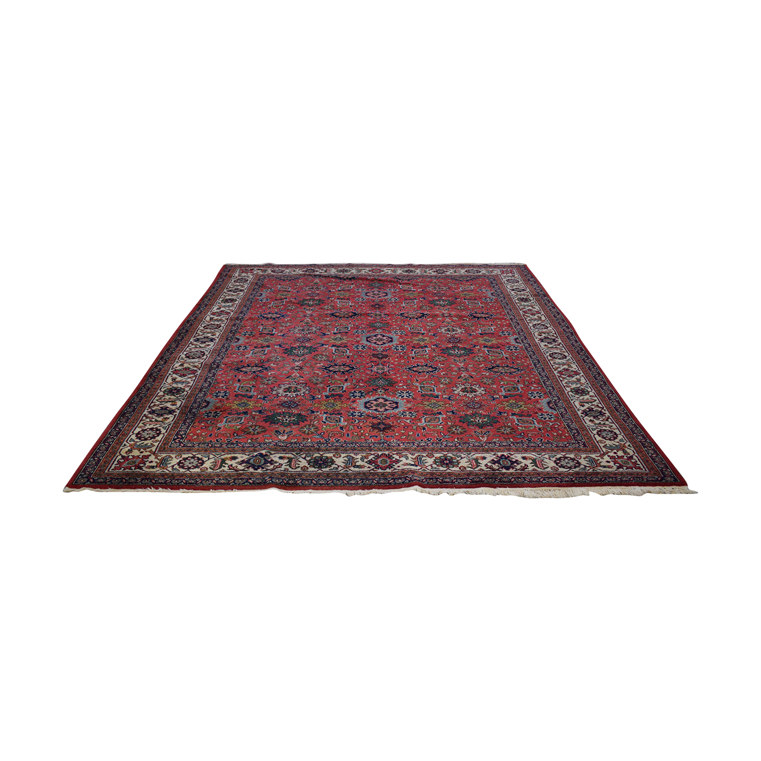 Oriental Multi-Colored Red Rug for sale