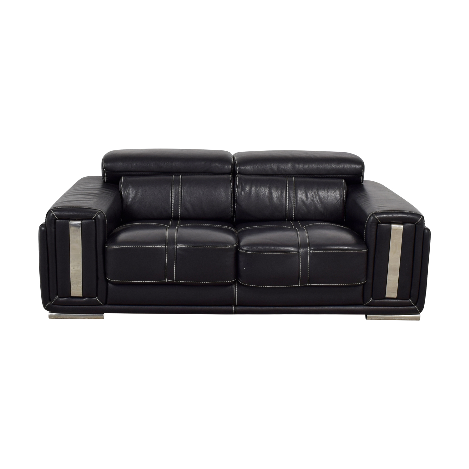 Black Leather Loveseat dimensions