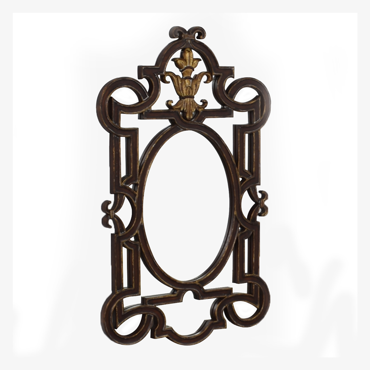 La Barge La Barge Distressed Carved Wood Wall Mirror price