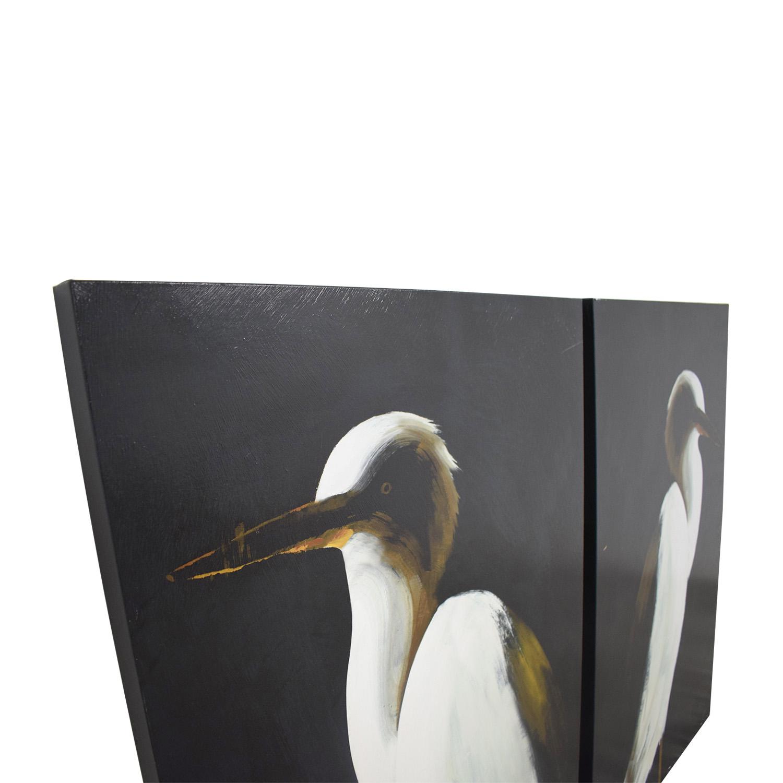 buy Grandin Road White Heron I and White Heron II Grandin Road Wall Art