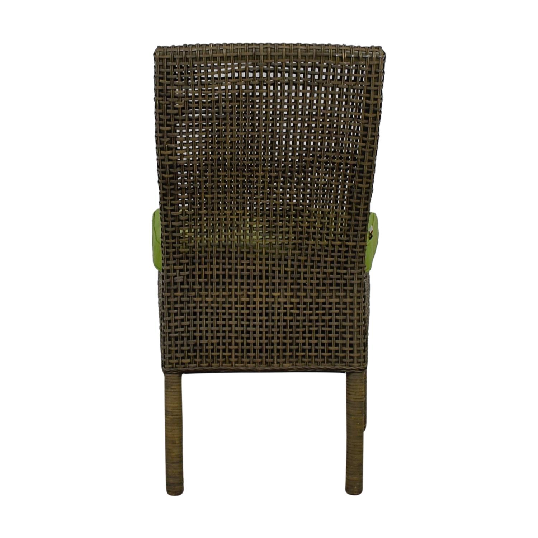 shop Ballard Designs Weave Chair with Green Sunbrella Fabric Ballard Designs Chairs