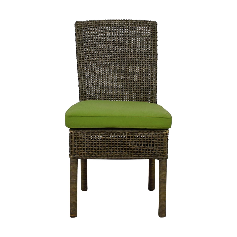 buy Ballard Designs Weave Chair with Green Sunbrella Fabric Ballard Designs